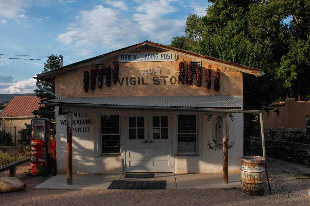 Trading post shop in Chimayo, New Mexico