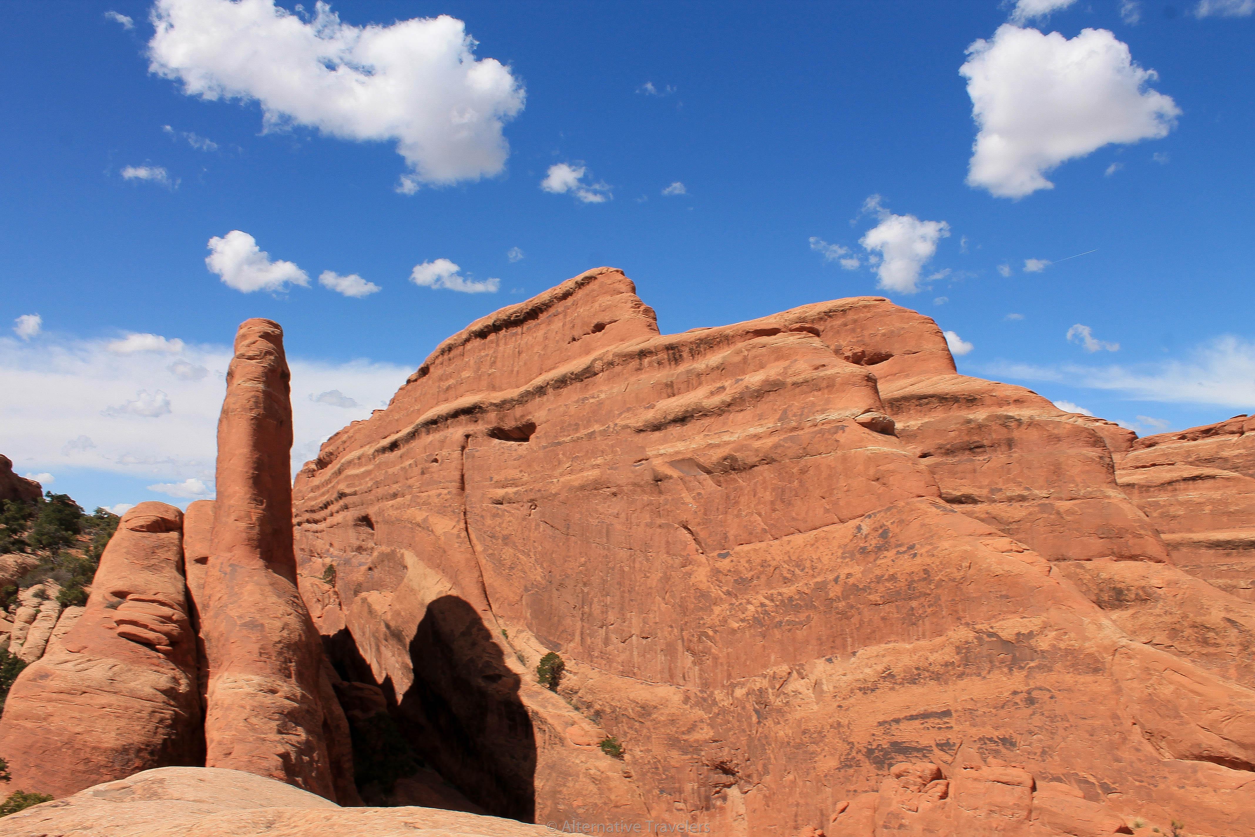 One of the Arches National Park Trails - Devil's Garden Primitive Trail