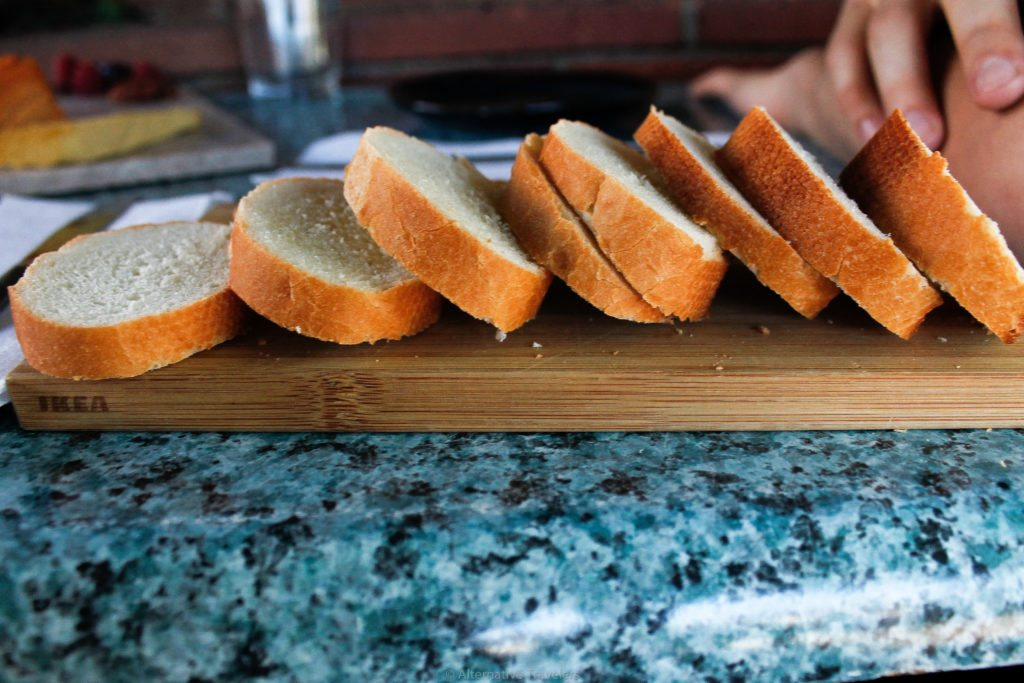sliced bread to go with vegan cheese at Vtopia in Portland