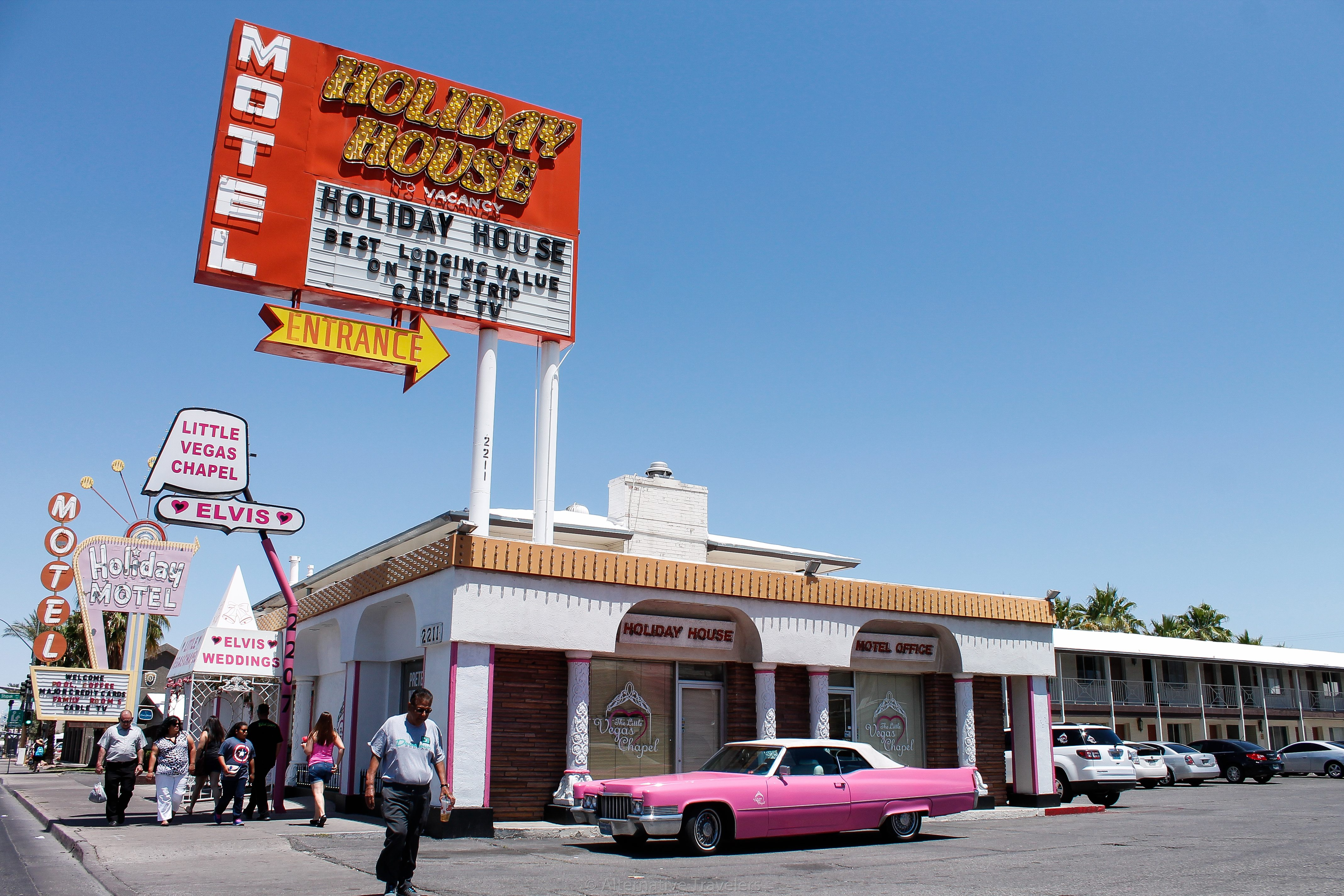 As we drove further down the strip, we got to the older Las Vegas. The nostalgic look was at least a little more interesting and not so opulent.