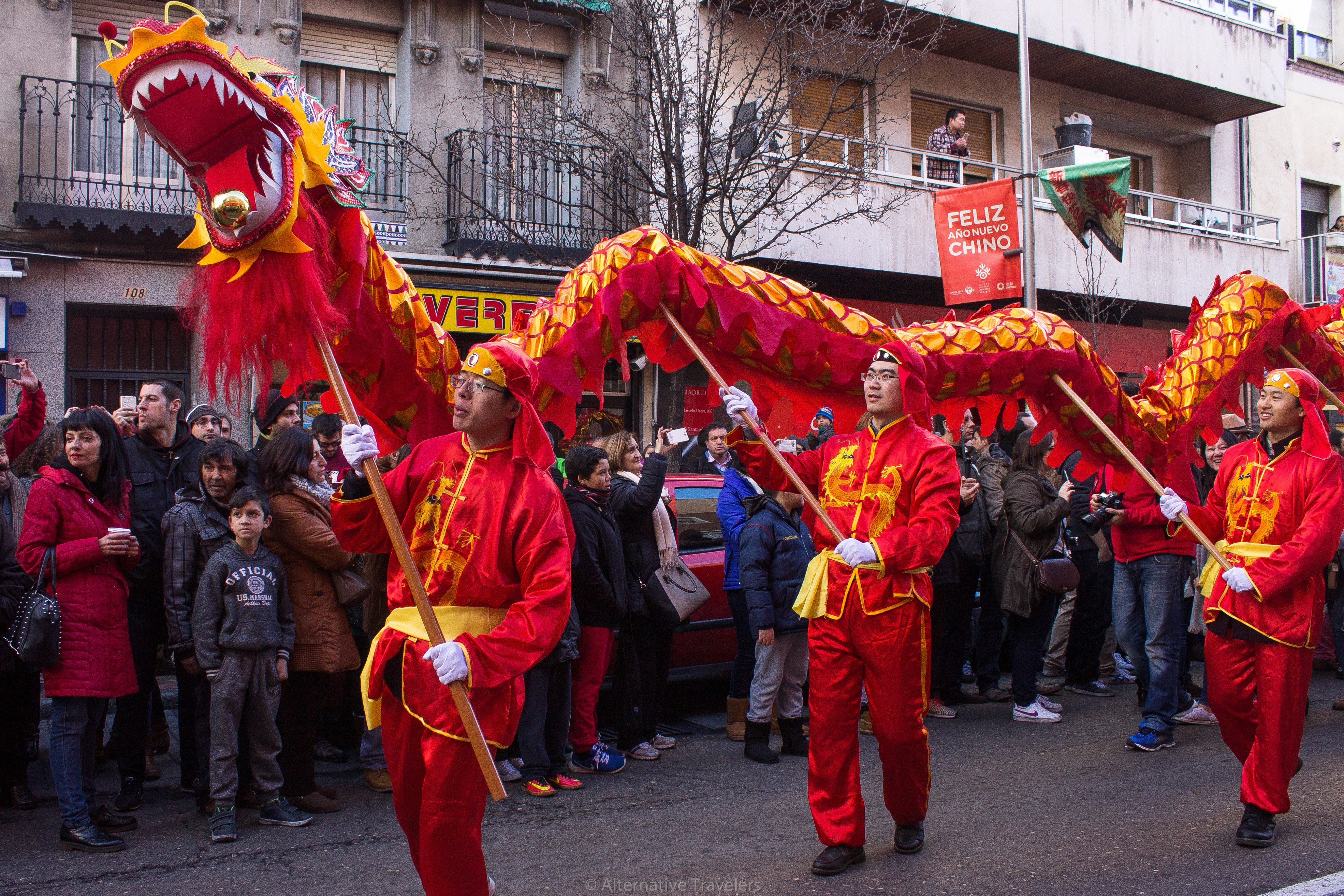 chinese new year in madrid's chinatown