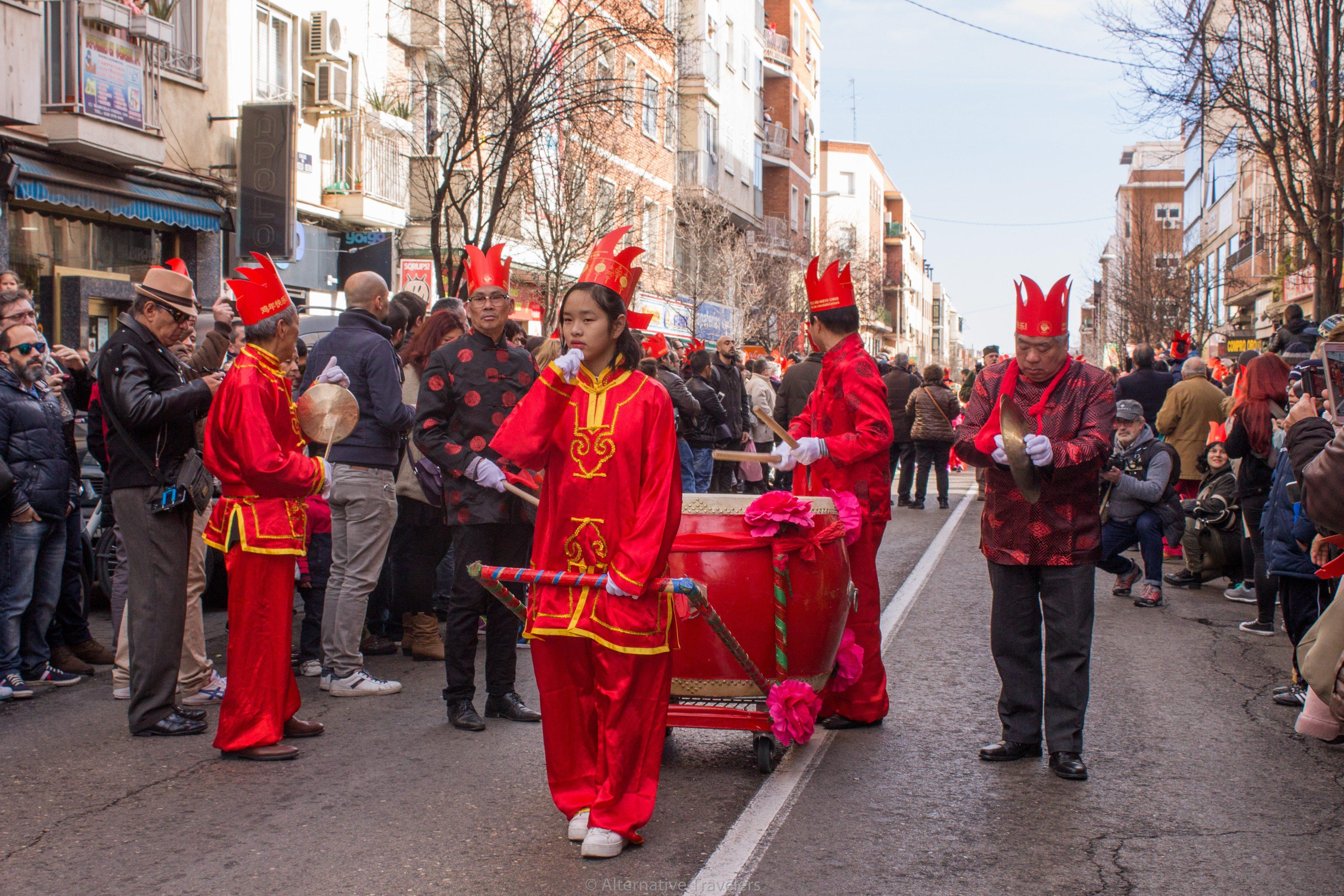 celebrating chinese new year in madrid's chinatown