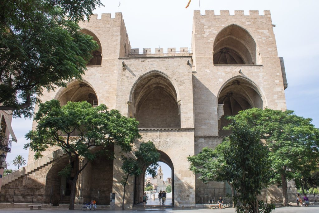 Valencia castle gates