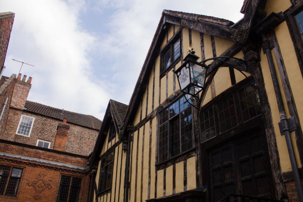 exterior of merchant adventurer's hall