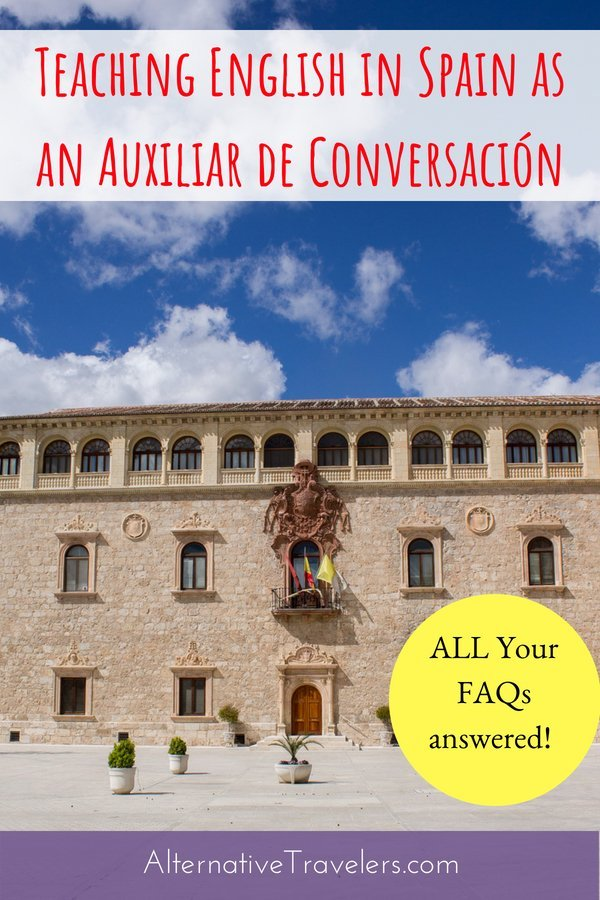 Curious about teaching English in Spain as a conversation assistant? As a North American Language and Cultural Assistant (AKA auxiliar de conversación), you can live and work in Spain for a year while teaching in public schools. Learn more about the program including how to apply, salary, what the day to day of being an auxiliar looks like, and more! #Spain #TeachingEnglish #Madrid #Expat #Auxiliardeconversacion #workabroad