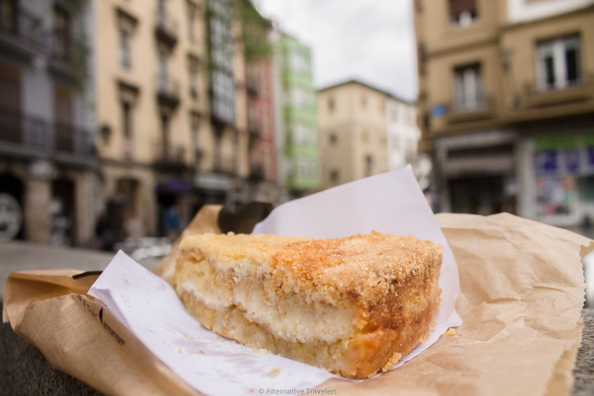 Cake from Txarloska, a vegan bakery in Bilbao, Spain