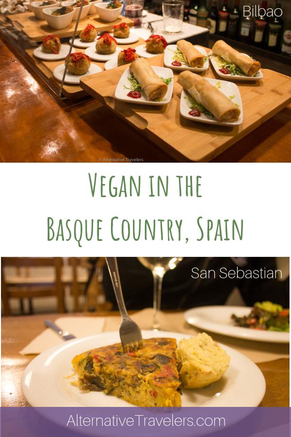 Vegan Travel in Spain! We uncovered the best vegan food in the Basque Country, Spain, including vegan pintxos, a Basque bar tradition! Discover vegan Bilbao and vegan San Sebastian, including traditional Spanish favorites like tortilla, palmeras, and more! #VeganTravel #VeganSpain #Bilbao #SanSebastian #Donostia #Vegan