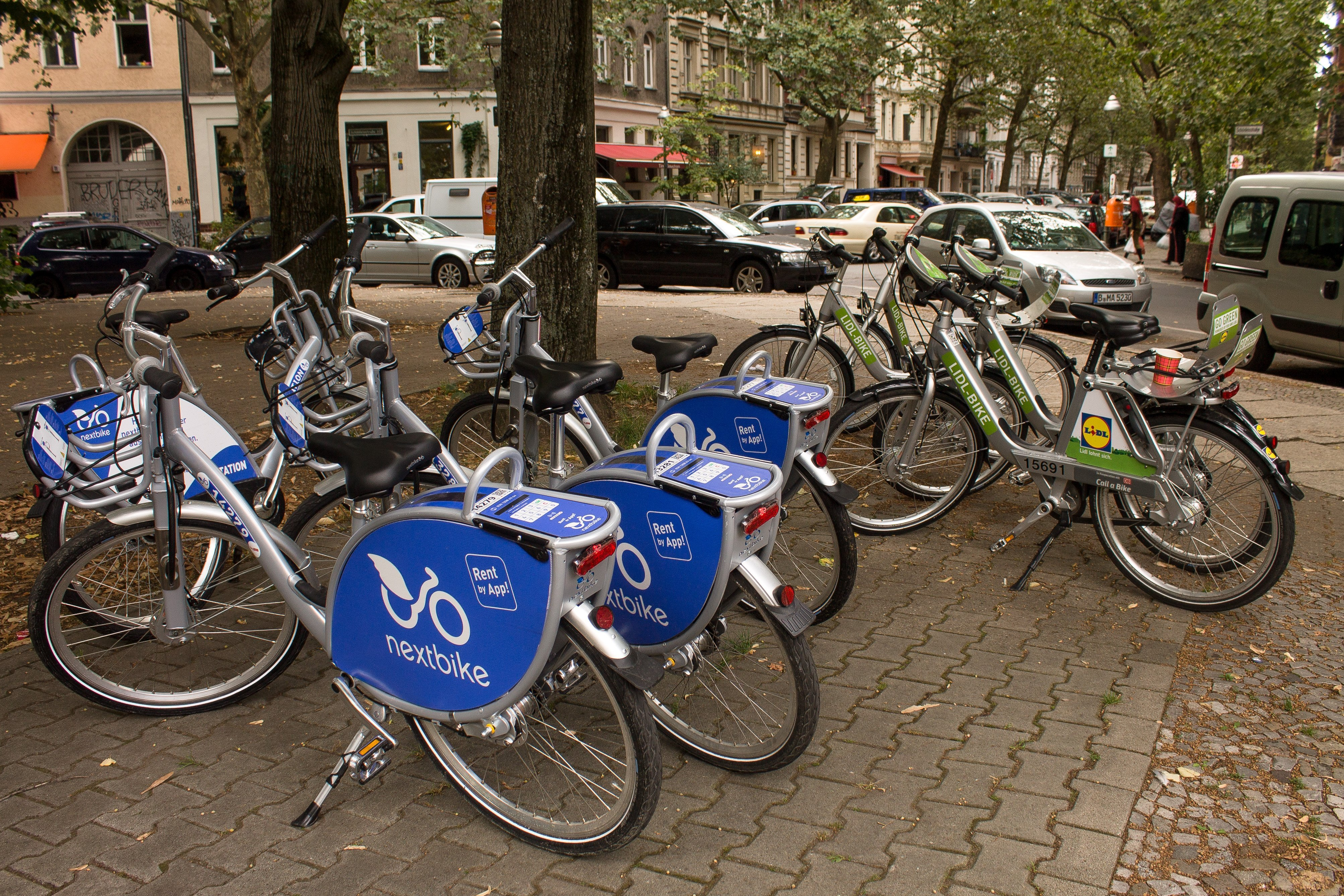 Bike Share Bikes in Berlin, Germany