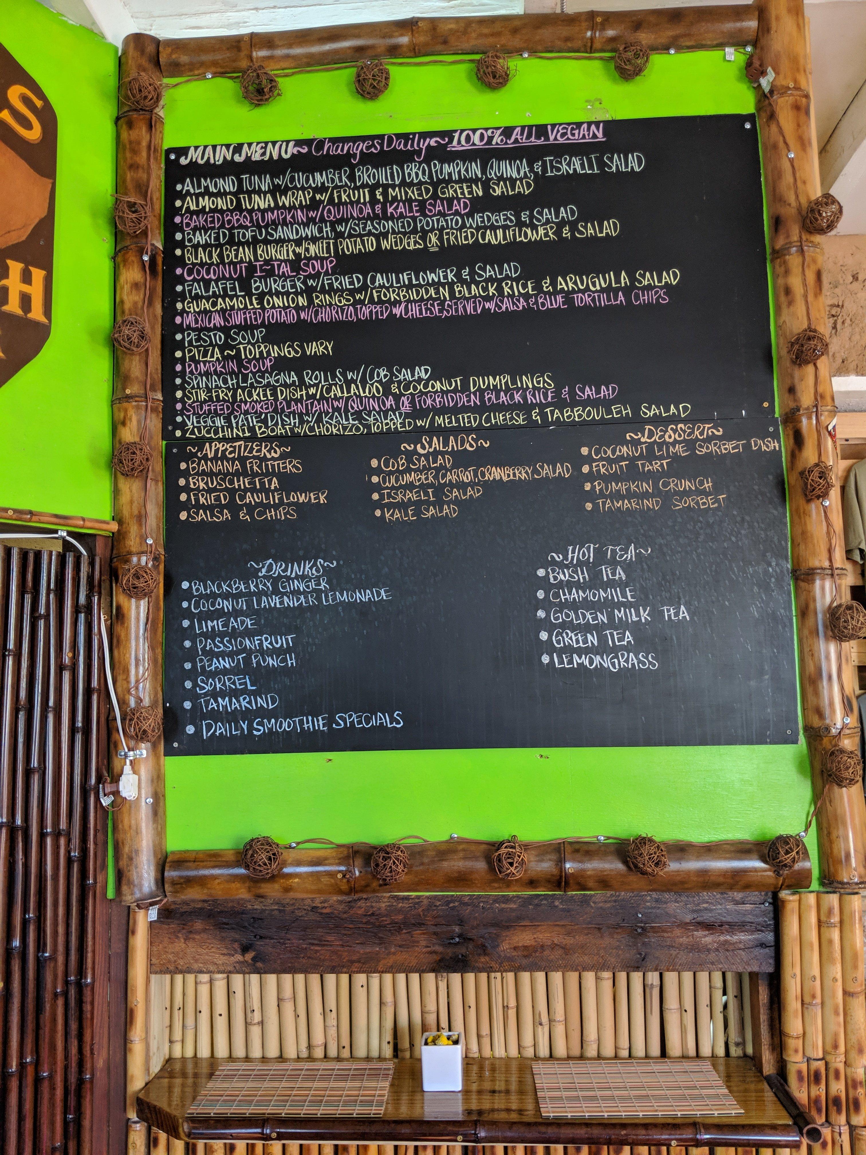 Roots N Kulchah Vegan Restaurant in Fredricksted