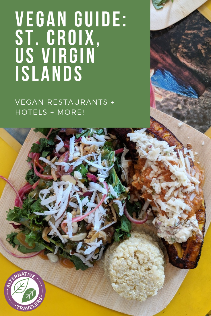 Vegan in the Caribbean in the US Virgin Islands! Discover the best vegan food in St. Croix along with the best places to stay in St. Croix, USVI - including a vegan bed and breakfast! Vegan travel has never been better. #vegantravel #usvirginislands #usvi #stcroix #ital