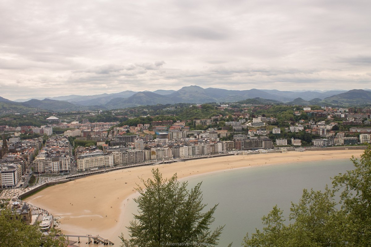 San Sebastian bay - view from mount urgull