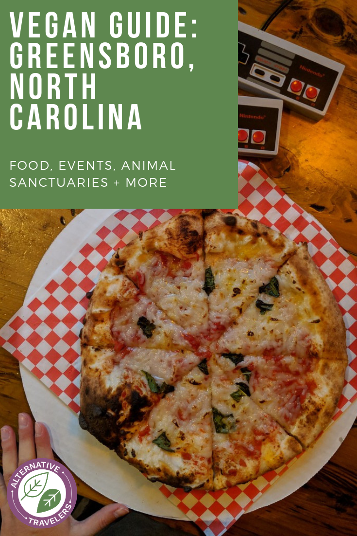 Vegan in Greensboro, North Carolina! Discover the restaurants in Greensboro, especially for vegans, vegetarians, or veg-curious eaters. Featuring the best vegan food in Greensboro, along with events, animal sanctuaries, grocery shopping, and more. #VeganTravel #Greensboro #NorthCarolina