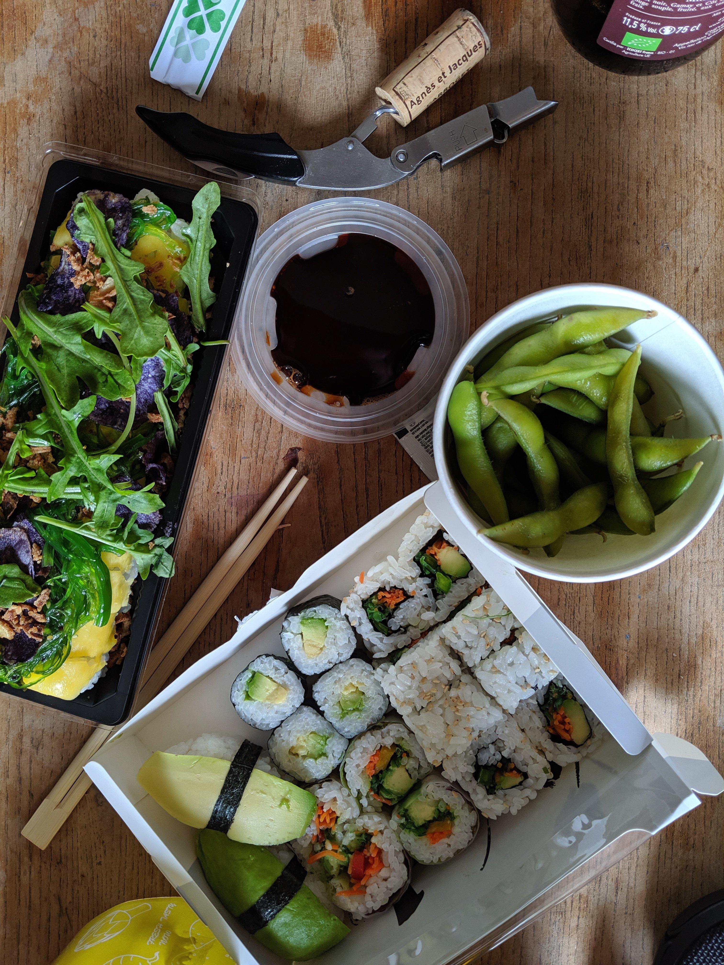 vegan sushi in Nantes, France