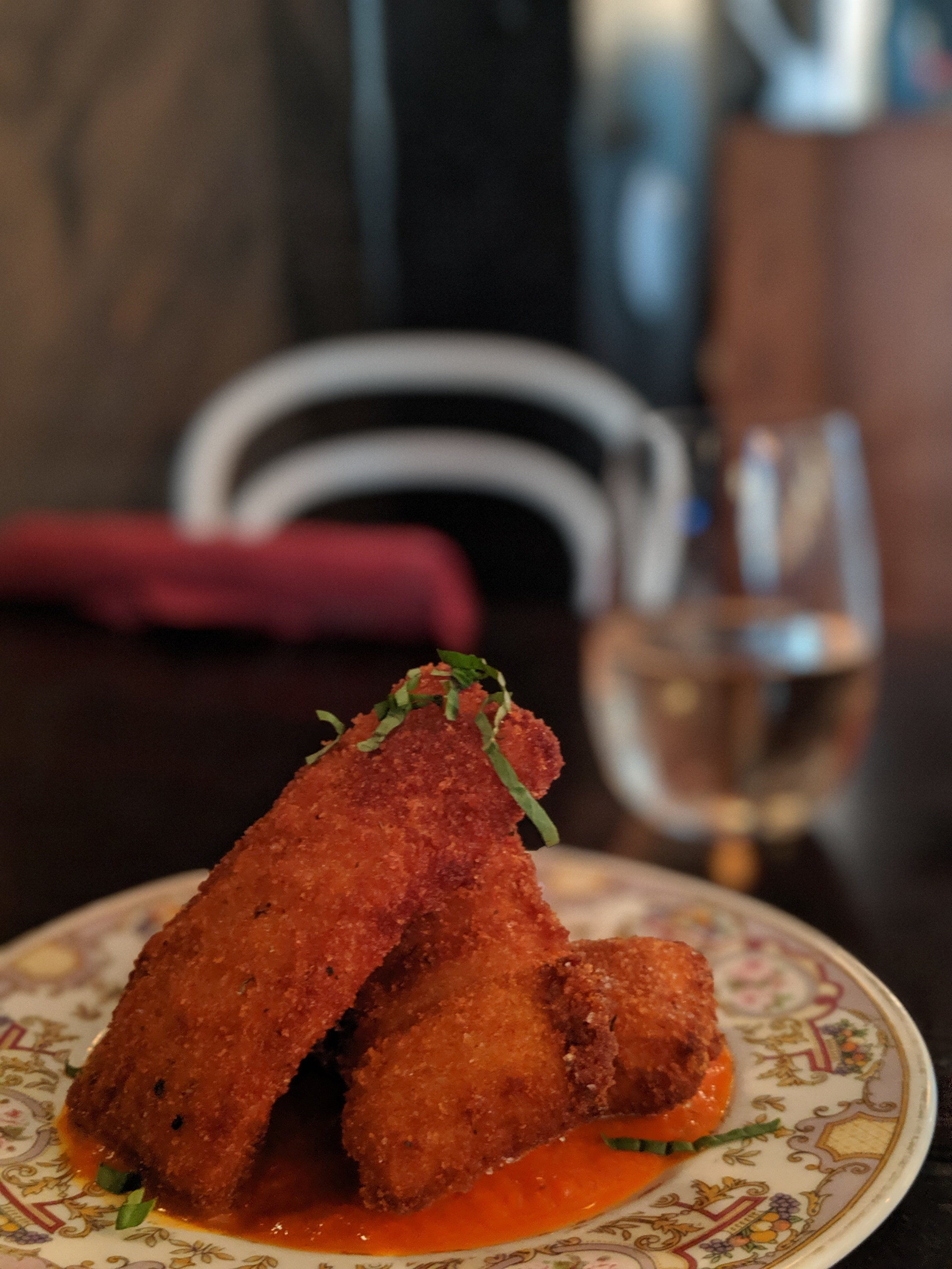 vegan mozzarella sticks at Modern Love in New York