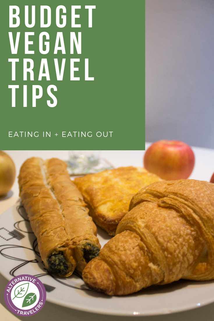 Are you a vegan traveling on the cheap? These budget vegan travel tips are for you! From how to maximize your budget from the grocery store to a restaurant! #VeganTravel #vegetariantravel #budgettravel