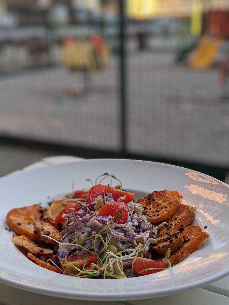 grilled sweet potato at Zdravo, a vegan restaurant in Sarajevo