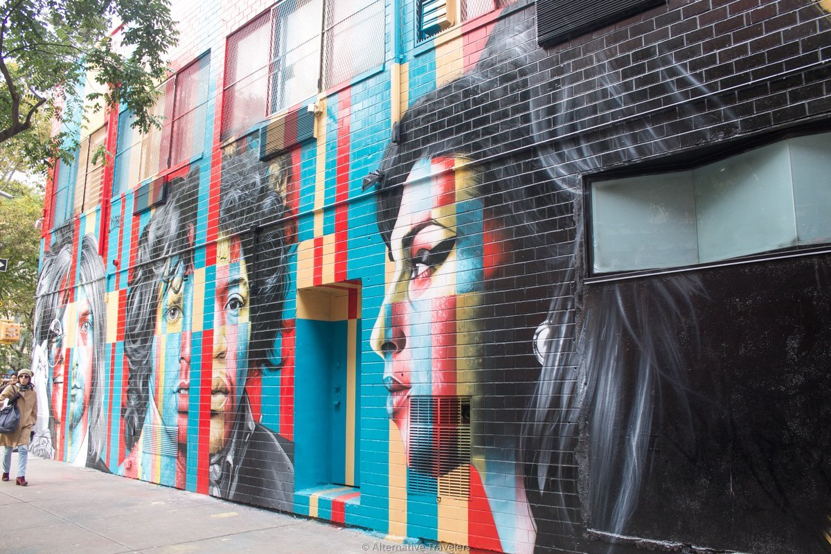Amy Winehouse mural in Lower East Side