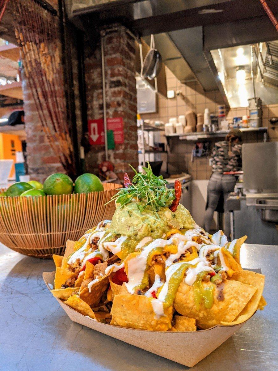 vegan nachos at Jajaja