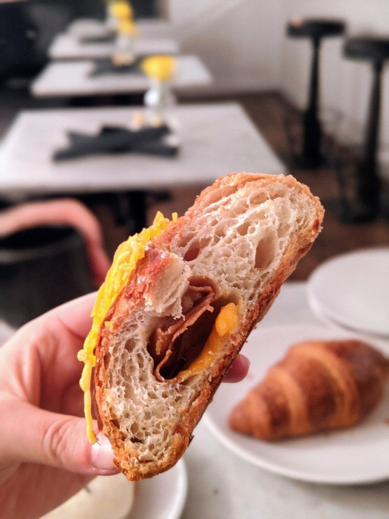 ham and cheese croissant atTerms of Endearment