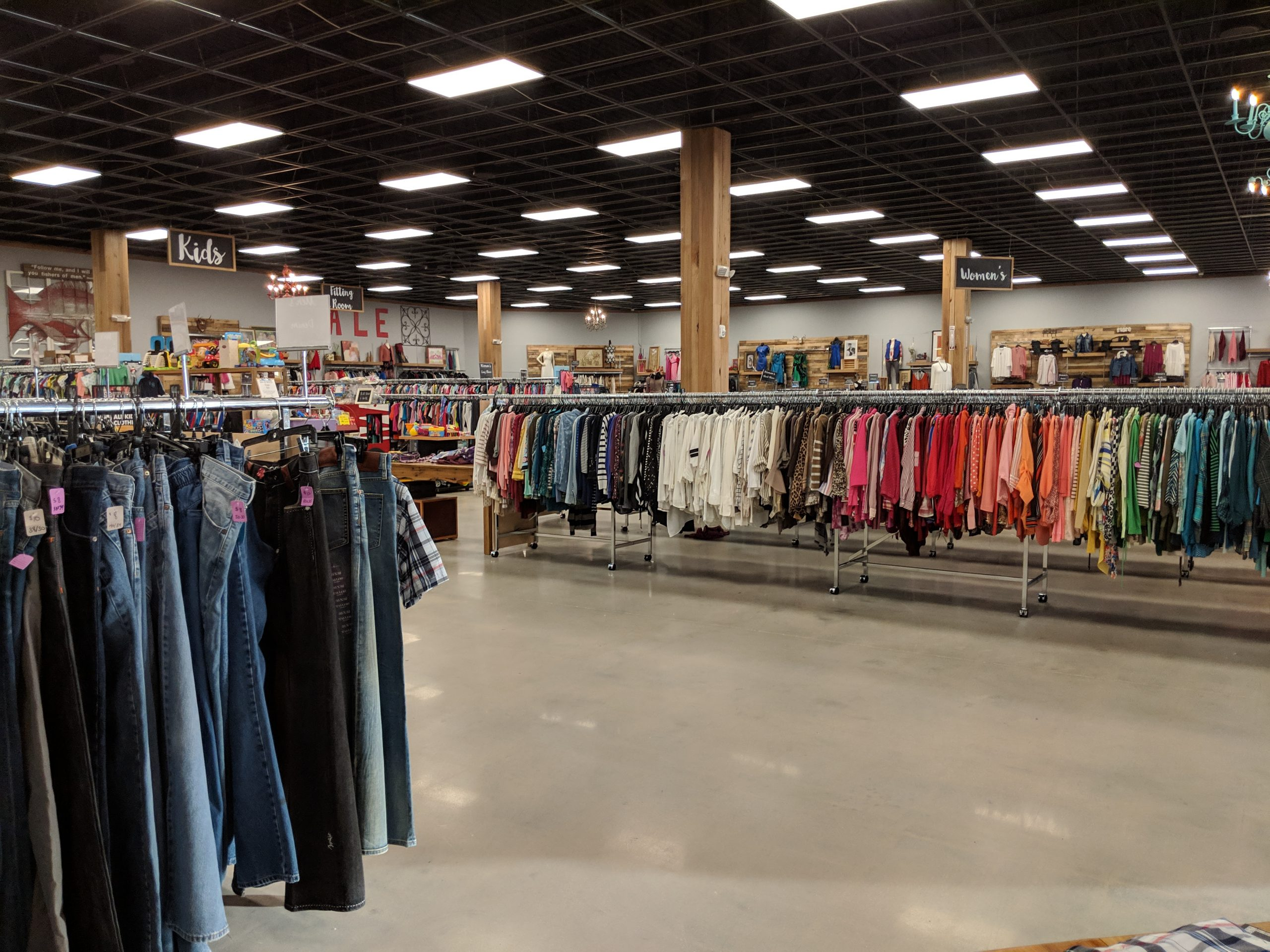 Giant thrift store interior in Florida -we always thrift when house sitting in the USA