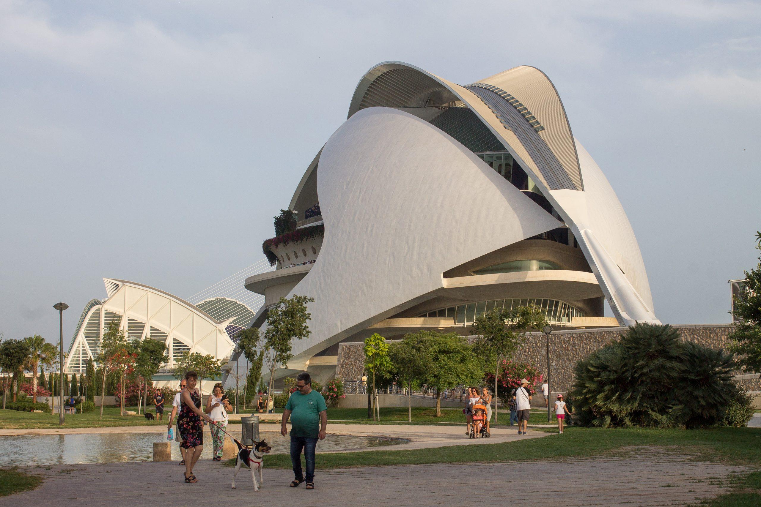 Opera dome at ciutat de artes y ciencias in valencia