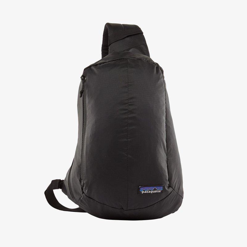 black Patagonia sling bag