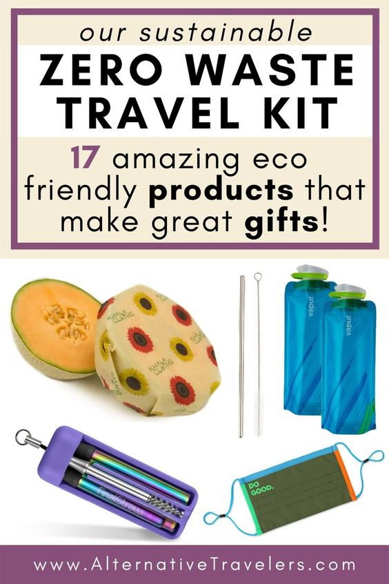 Our Sustainable Zero Waste Travel Kit (With 17 Eco Friendly Products!)
