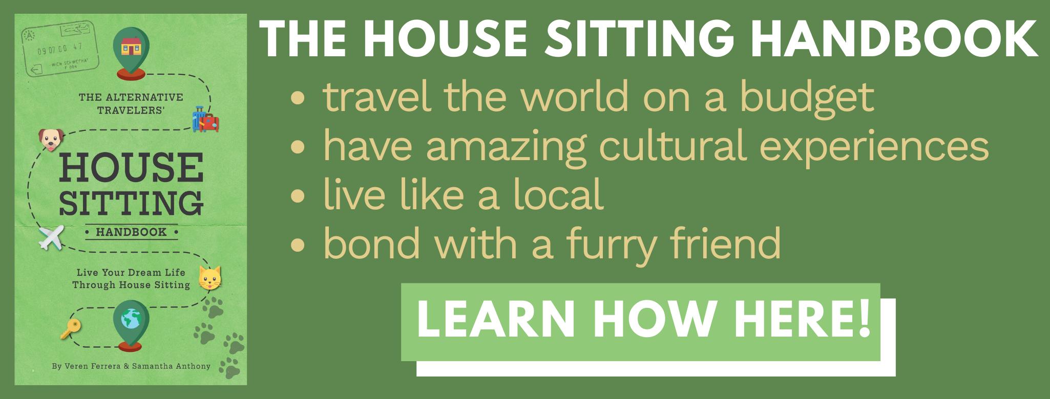 House Sitting Handbook banner